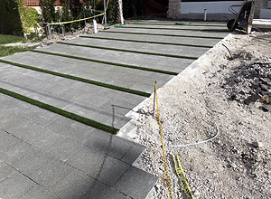 Residential With Artifical Grass Strip