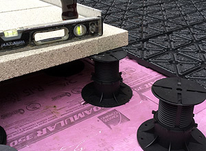 hydroPAVERS® Installed On Pedestals