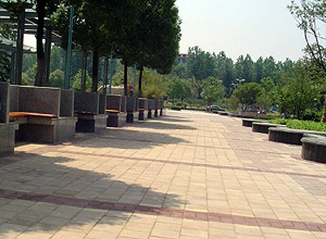 Walkway With Benches For Relaxation