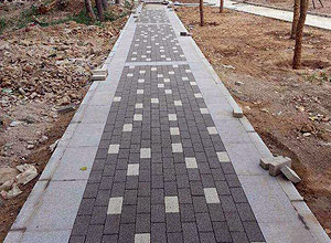 Simple Charcoal And Off-White Pathway