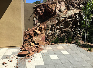 """""""We had what they call a 1000 year storm! The pavers held up amazingly well even with this""""  - Santa Fe, NM"""