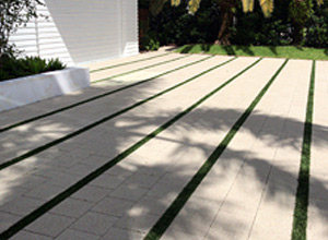"Designed With A 4"" Strip Of Artificial Grass"