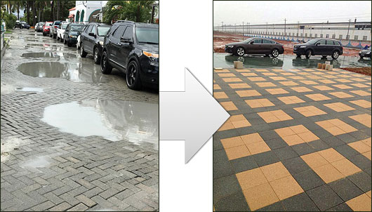 Before our permeable paving products were installed