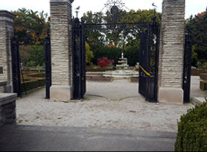 before hydroPAVERS® At Royal Botanical Gardens