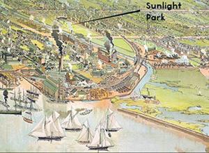 Sunlight Park Location - Home Of Toronto's First Professional Baseball Team