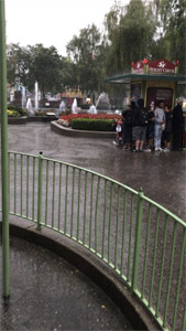 Heavy Rain At The Amusement Park Leaving Puddles Without hydroPAVERS®