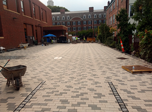 hydroPAVERS® Parking Lot During Construction